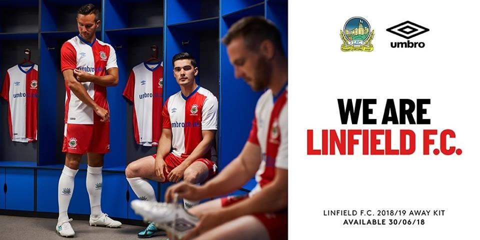 Camisas do Linfield FC 2018-2019 Umbro