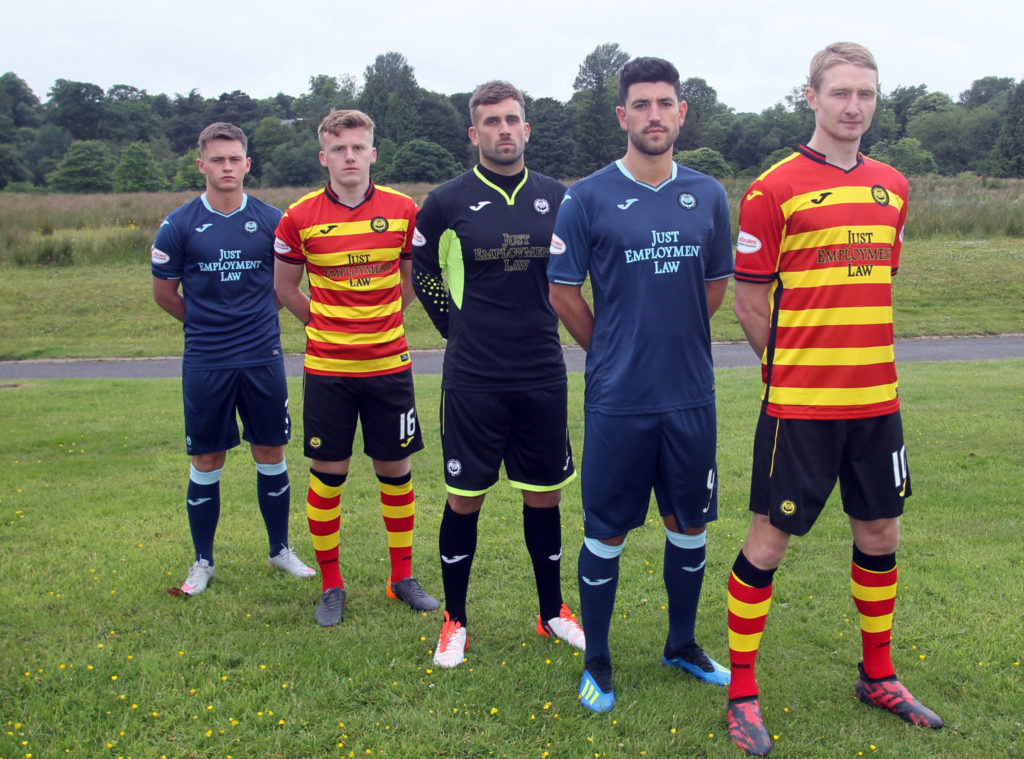 Camisas do Partick Thistle 2018-2019 Joma