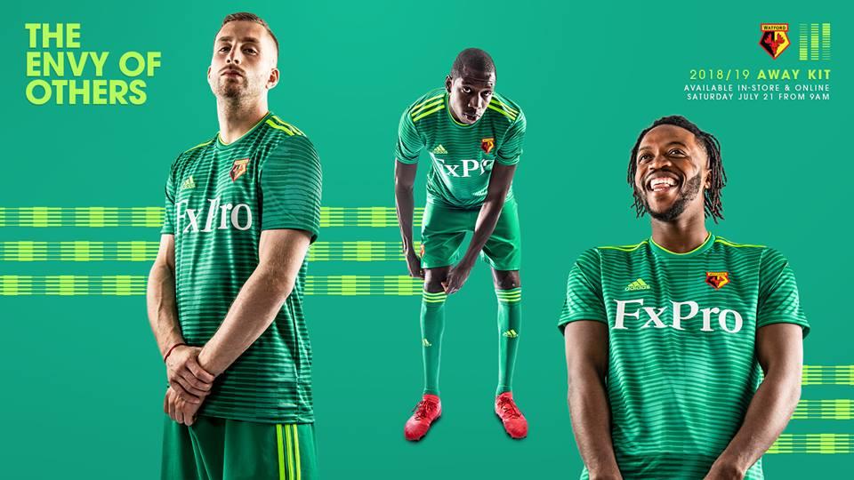 Camisas do Watford FC 2018-2019 Adidas