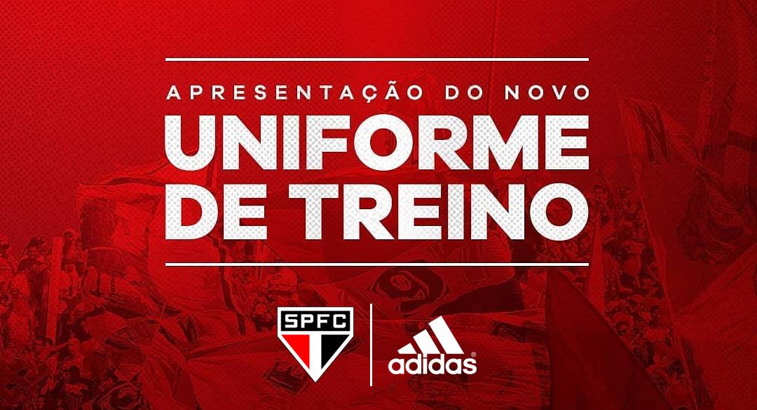 Uniformes de treino São Paulo Adidas