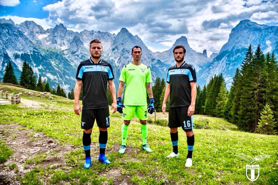 Camisas da Lazio 2018-2019 Macron