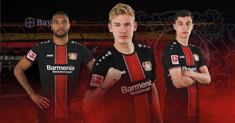 Camisas do Bayer Leverkusen 2018-2019 Jako abre