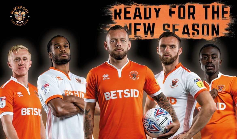 Camisas do Blackpool FC 2018-2019 Errea