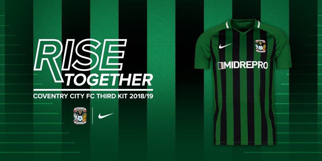Camisas do Coventry City 2018-2019 Nike