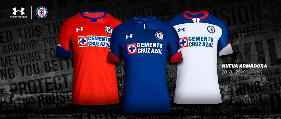 Camisas do Cruz Azul 2018-2019 Under Armour abre