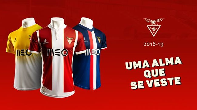 Camisas do Desportivo das Aves 2018-2019 Lacatoni