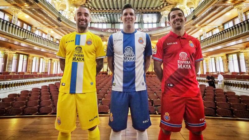 Camisas do Espanyol 2018-2019 Kelme