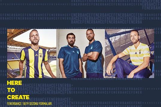 Camisas do Fenerbahce 2018-2019 Adidas