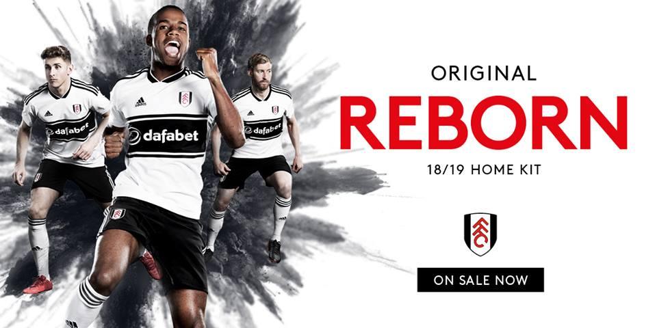 Camisas do Fulham 2018-2019 Adidas Titular