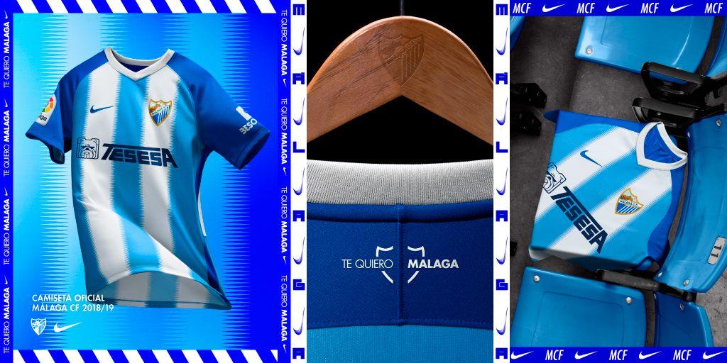 Camisas do Malaga 2018-2019 Nike