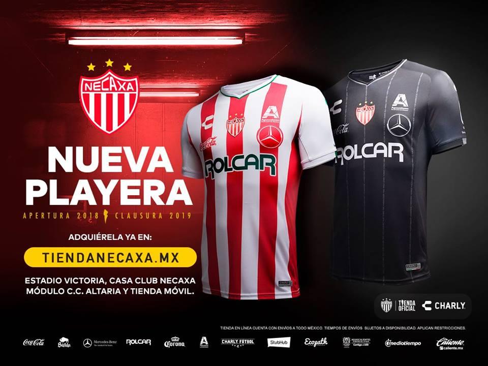 Camisas do Necaxa 2018-2019 Charly