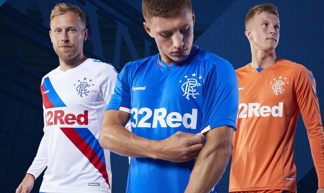 Camisas do Rangers FC 2018-2019 Hummel kits