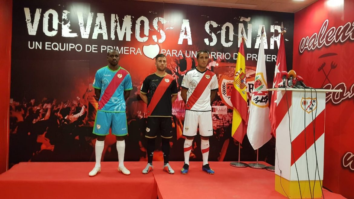 Camisas do Rayo Vallecano 2018-2019 Kelme