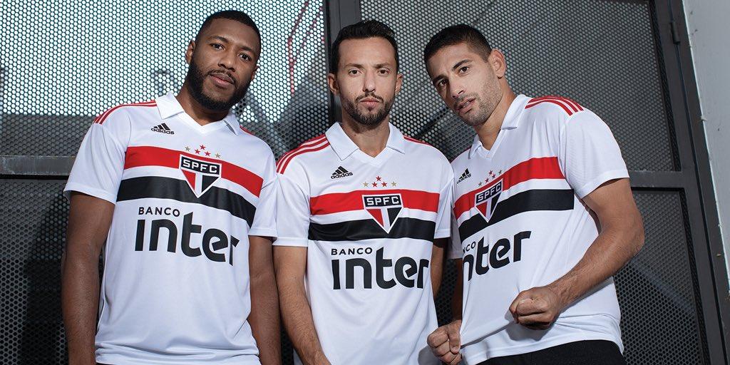 Camisas do São Paulo 2018-2019 Adidas Titular