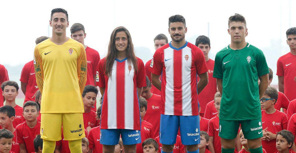 Camisas do Sporting Gijón 2018-2019 Nike