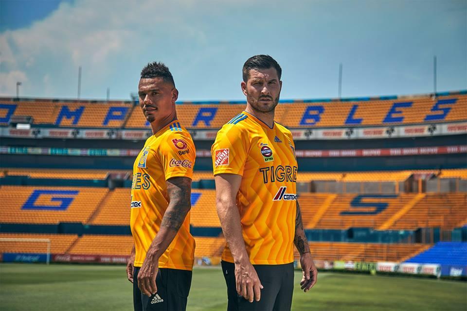 Camisas do Tigres UANL 2018-2019 Adidas