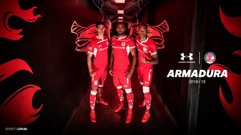 Camisas do Toluca 2018-2019 Under Armour Titular