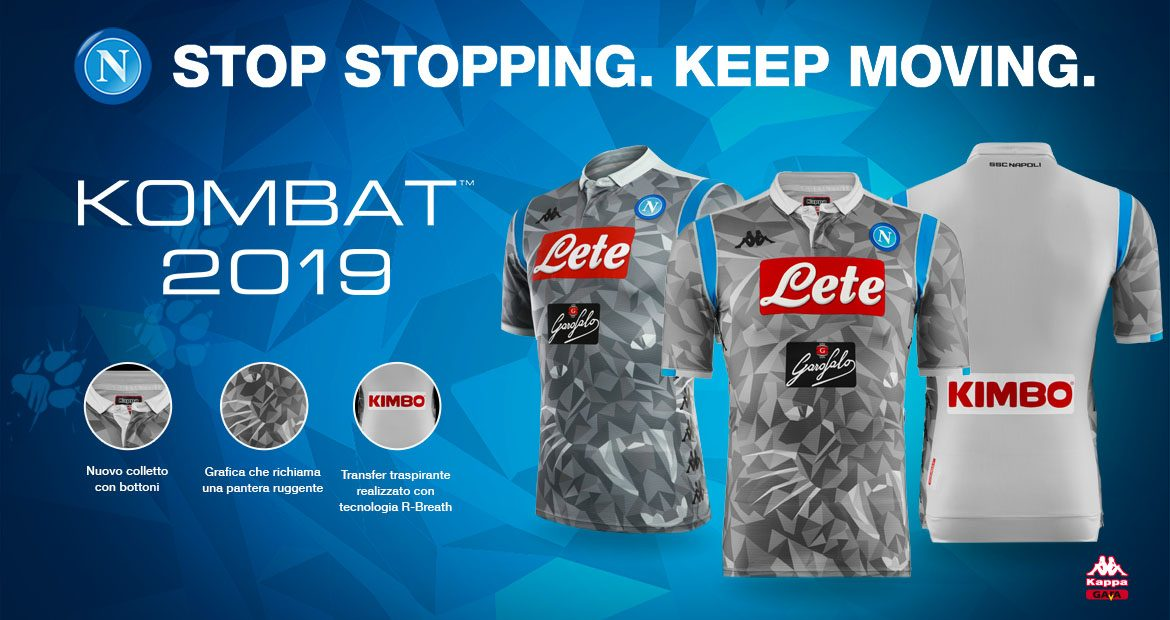 Terceira camisa do Napoli 2018-2019 Kappa