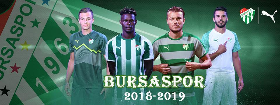 camisas do Bursaspor 2018-2019 PUMA