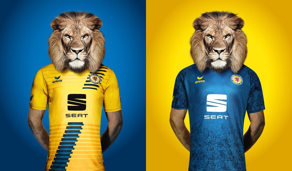 camisas do Eintracht Braunschweig 2018-2019 Erima abre