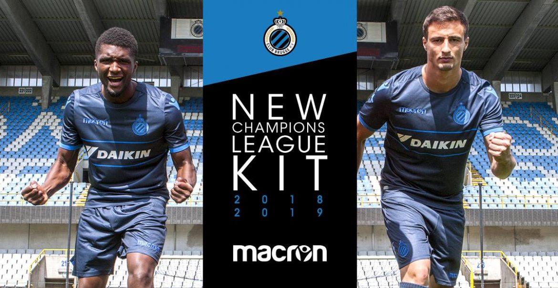 Camisa do Club Brugge 2018-2019 Champions League abre