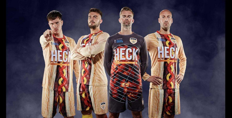 Camisa hotdog do Bedale AFC