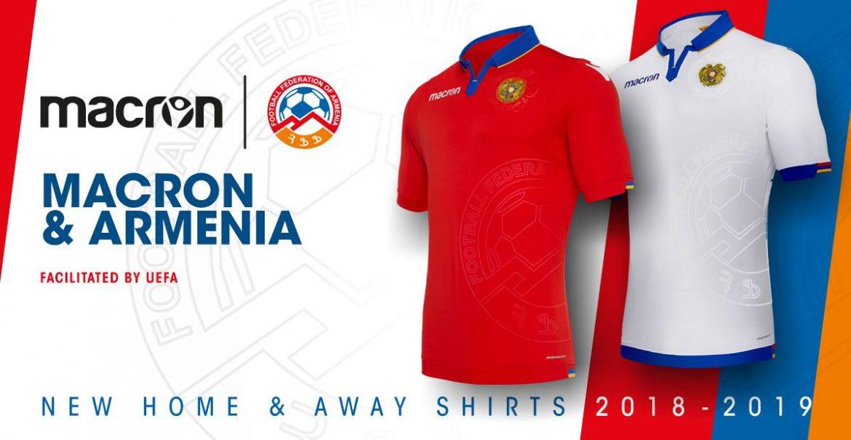 Camisas da Armênia 2018-2019 Macron