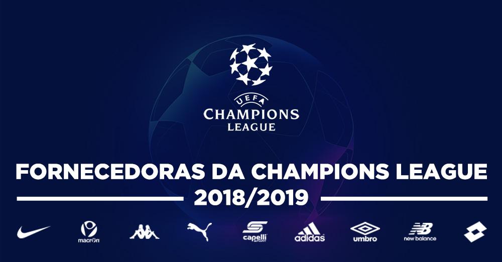 Fornecedoras da Champions League 2018-2019 capa