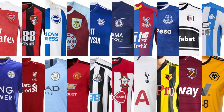 Uniformes e camisas da Premier League 2018-2019 Campeonato Inglês