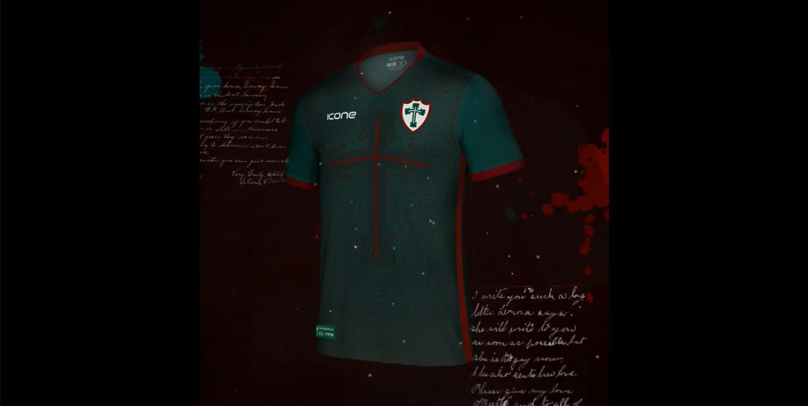 terceira camisa da Portuguesa 2018-2019 Icone Sports Cruz de Avis