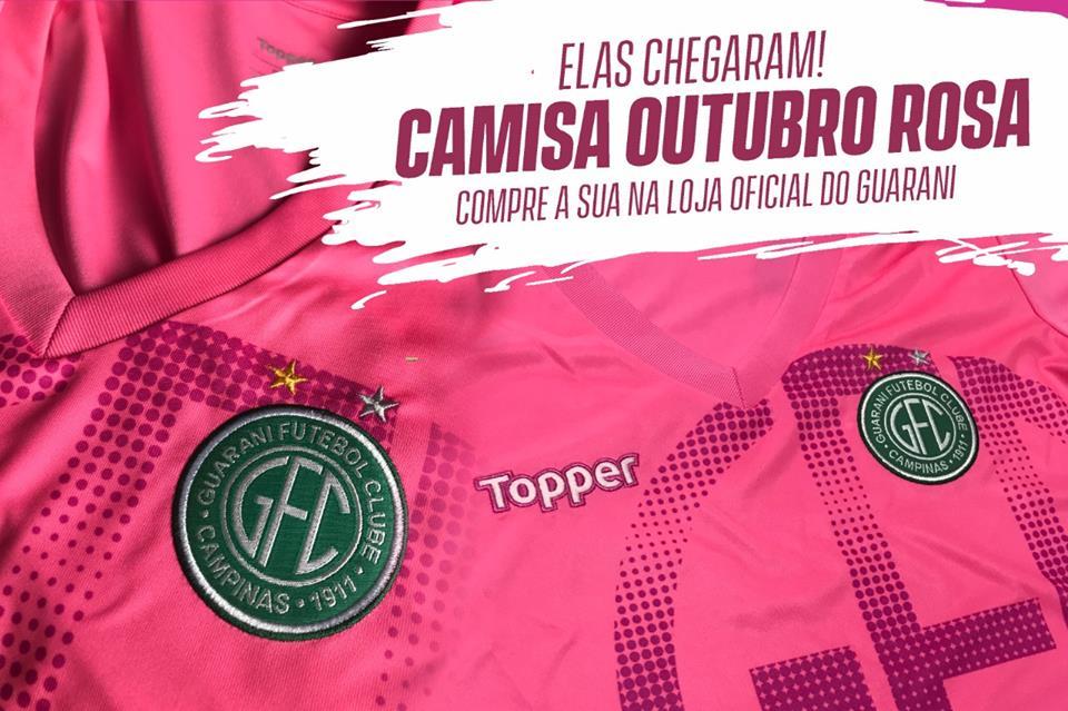 Camisa Outubro Rosa do Guarani FC 2018 Topper