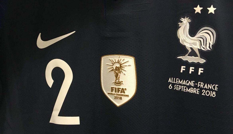 Camisa frança patch de campeão mundial