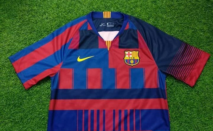 Camisa mashup Barcelona x Nike 20 anos
