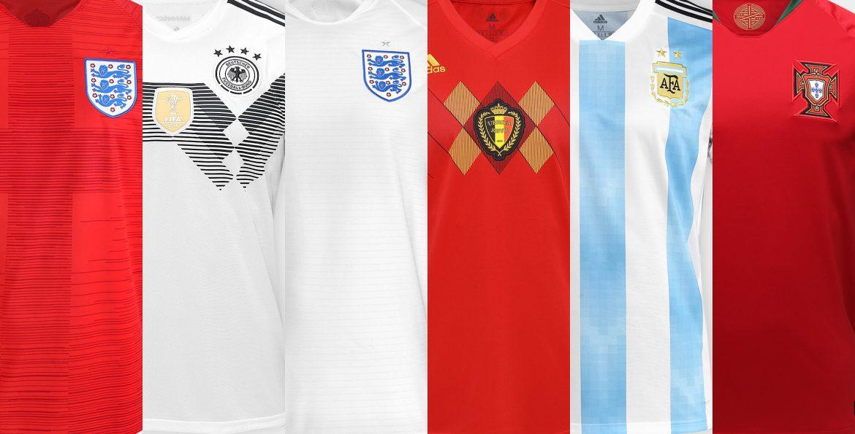 Camisas Seleções Copa 2018