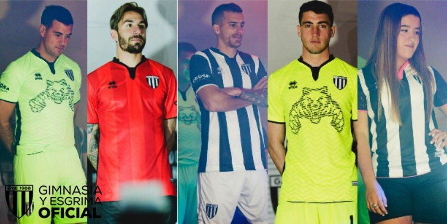 Camisas do Gimnasia y Esgrima Mendoza 2018-2019 Erreà