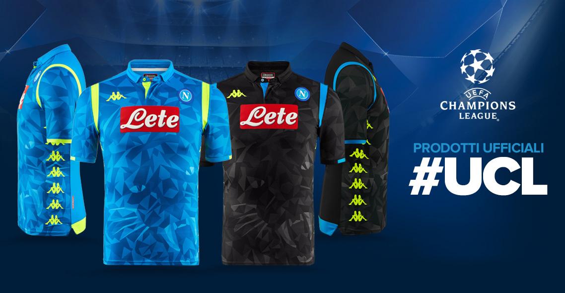 Camisas do Napoli para a Champions League 2018-2019 Kappa