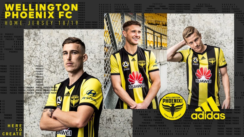 Camisas do Wellington Phoenix 2018-2019 Adidas