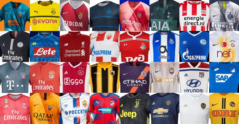 Uniformes e camisas da UEFA Champions League 2018-2019