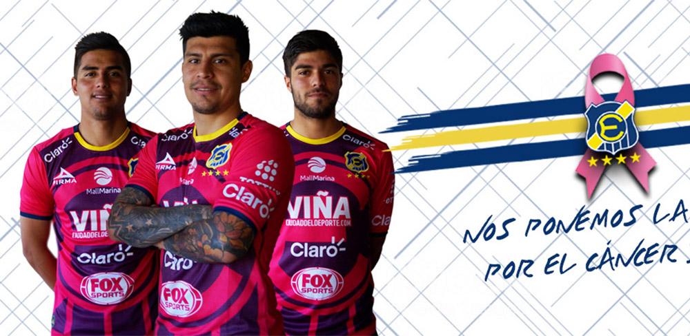 Camisa Outubro Rosa do Everton de Viña del Mar 2018 Pirma