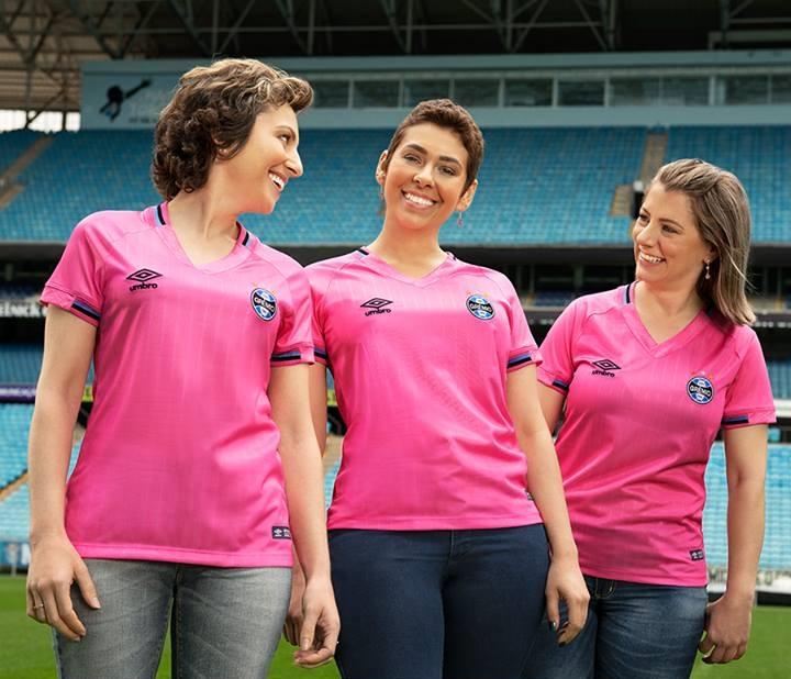 Camisa Outubro Rosa do Grêmio 2018 Umbro