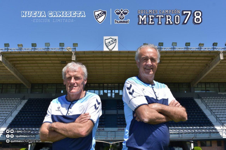 Camisa de 40 anos do Metropolitano do Quilmes 2018 Hummel