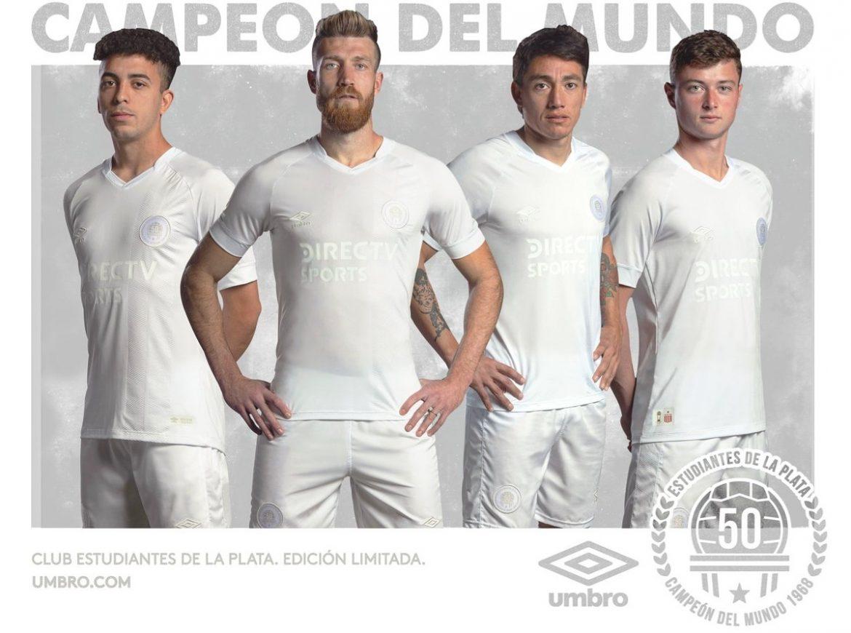 Camisa de 50 anos do Mundial do Estudiantes de La Plata 2018 Umbro