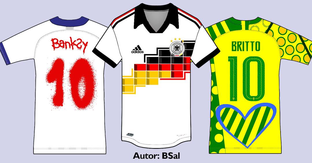 Camisas de seleções inspiradas em artistas - Parte II (Bruno Saldanha)