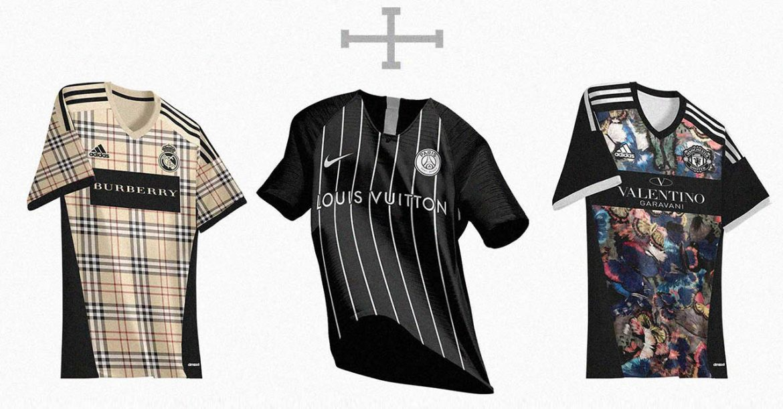 Leitor MDF Camisas de times europeus desenhadas por grifes famosas (Saulo Christian)