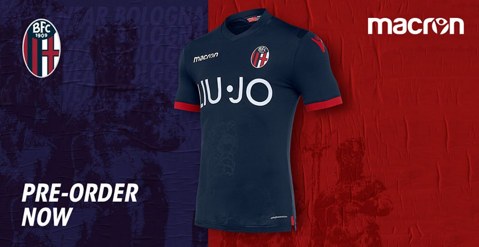 Terceira camisa do Bologna 2018-2019 Macron