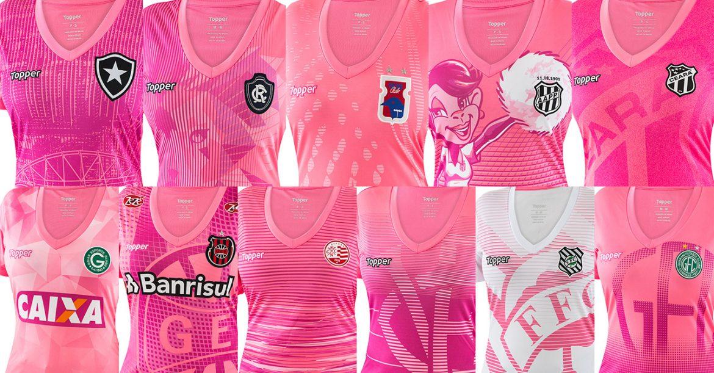 Topper lança camisas do Outubro Rosa para seus clubes