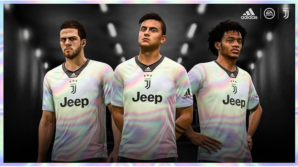 Camisa da Juventus para o FIFA 19 Adidas EA Sports