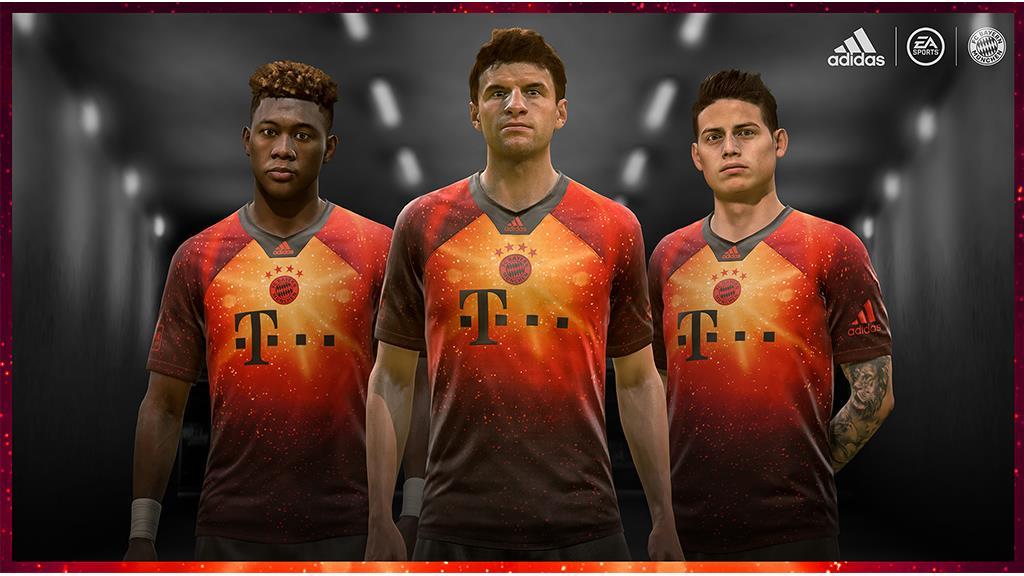 Camisa do Bayern de Munique para o FIFA 19 Adidas EA Sports