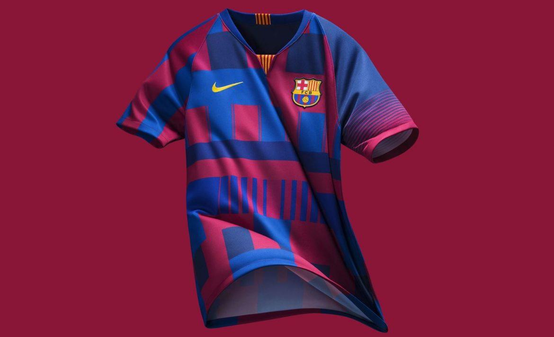 Camisa mash-up do Barcelona 20 anos de Nike