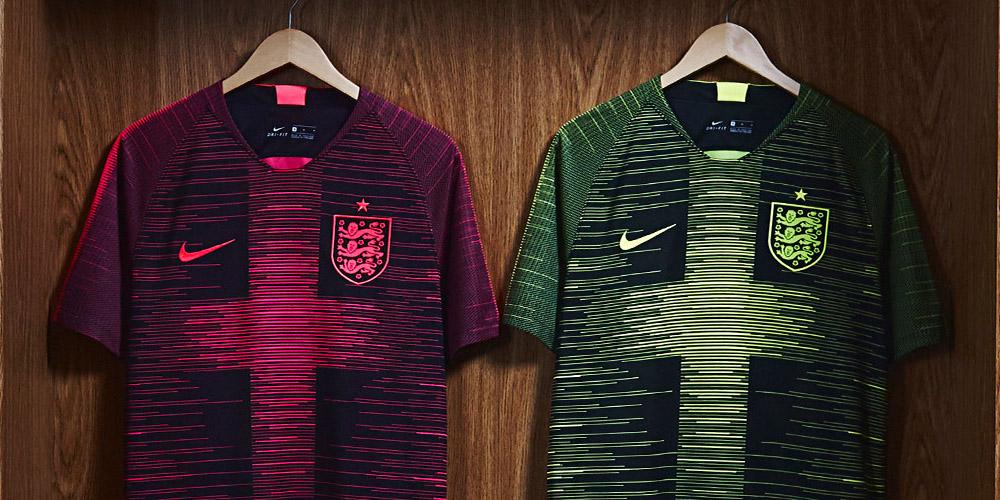 Camisas pré-jogo da Inglaterra 2018-2019 Nike abre